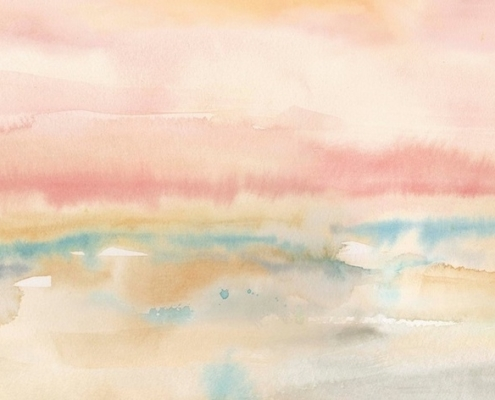 Blush Seascape Wall Art By: Cynthia Coulter